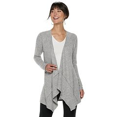 Women's ELLE™ Cozy Draped Flyaway Cardigan