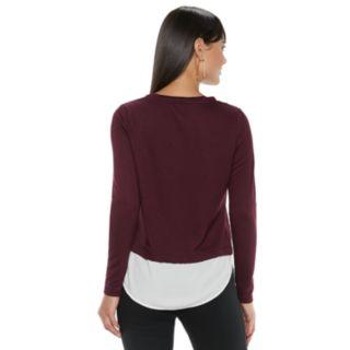 Women's ELLE? Embellished Mock-Layer Top