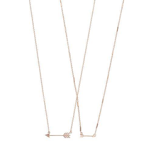 LC Lauren Conrad Rose Gold Tone Arrow Necklace Set
