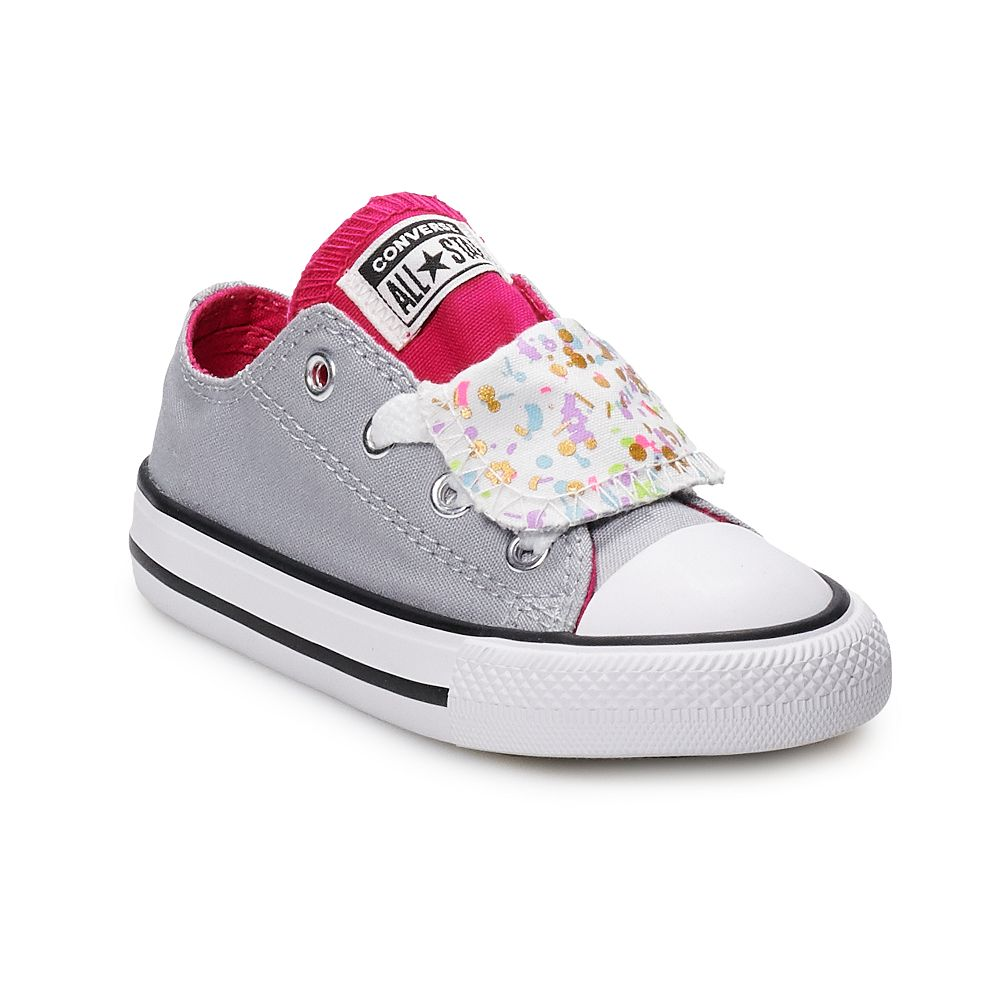 579b61e6fea5 Toddler Girls  Converse Chuck Taylor All Star Double Tongue Birthday  Confetti Sneakers