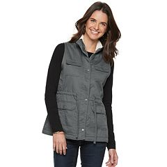 Women's SONOMA Goods for Life™ Sherpa Trim Utility Vest