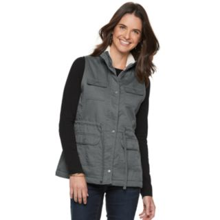 Women's SONOMA Goods for Life? Sherpa Trim Utility Vest