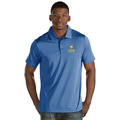 Men's Antigua Golden State Warriors 2018 NBA Finals Champions Quest Polo
