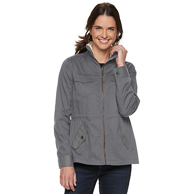 Women's SONOMA Goods for Life? Sherpa Trim Utility Jacket
