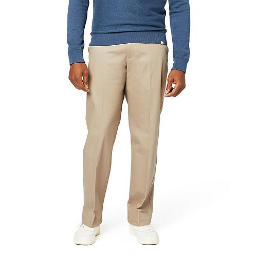 Men's Dockers® Relaxed-Fit Signature Khaki Lux Cotton Stretch Pants D4