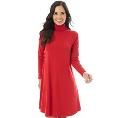Women's Apt. 9® Turtleneck Swing Dress