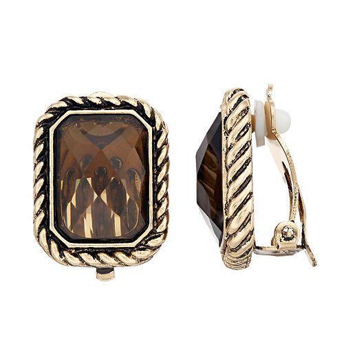 Dana Buchman Brown Clip On Earrings