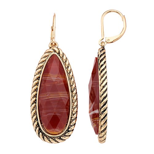 Dana Buchman Brown Teardrop Earrings