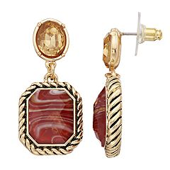 Dana Buchman Brown Double Drop Earrings