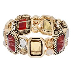 Dana Buchman Brown Geometric Link Stretch Bracelet