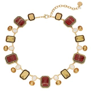 Dana Buchman Brown Geometric Statement Necklace