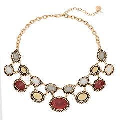 Dana Buchman Textured Oval Link Statement Necklace