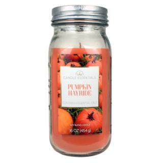 Candle Essentials Pumpkin Hayride 16-oz. Mason Jar Candle