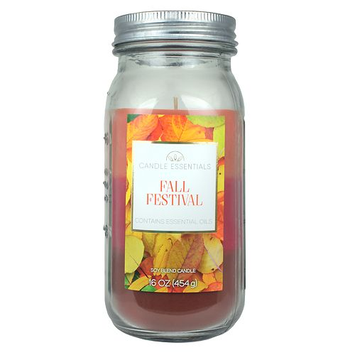Candle Essentials Tri-Pour Fall Festival 16-oz. Mason Jar Candle