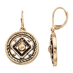 Dana Buchman Medallion Drop Earrings