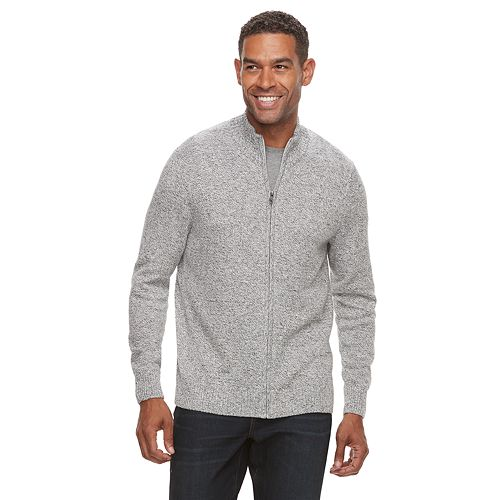 Men's Croft & Barrow® Full-Zip Sweater