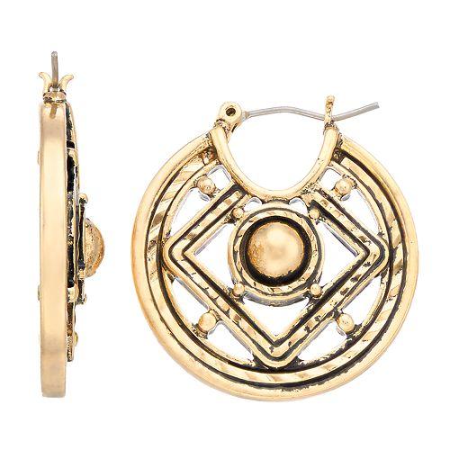 Dana Buchman Medallion Drop Earrings