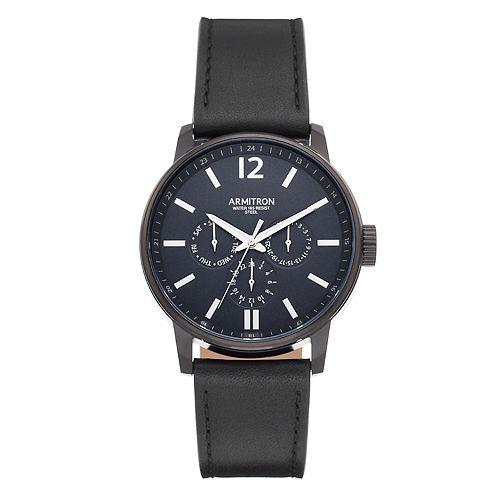 Armitron Men's Leather Dress Watch - 20/5174NVTI