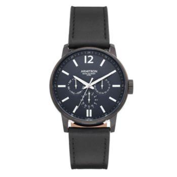 Armitron Men's Leather Watch - 20/5217NVTIBK