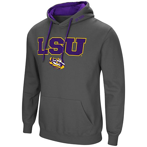 Men's LSU Tigers Pullover Fleece Hoodie