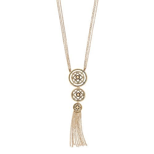 Dana Buchman Medallion & Tassel Necklace