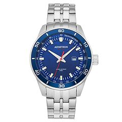 Armitron Men's Stainless Steel Solar Watch - 20/5289NVSV