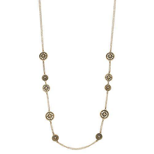 Dana Buchman Medallion Long Necklace