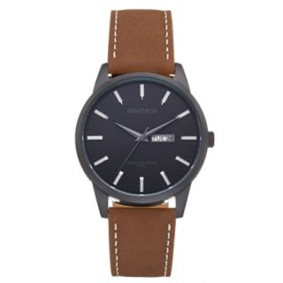 Armitron Men's Leather Watch - 20/5311BKTIBN