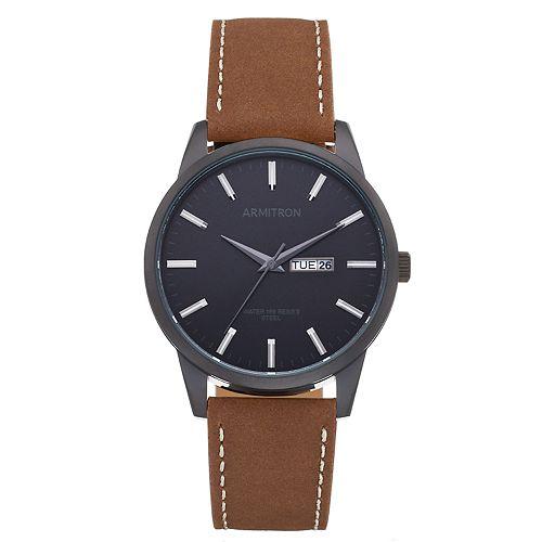 Armitron Men's Leather Watch - 20/5311BKTIBN