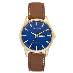 Armitron Men's Leather Watch - 20/5311NVGPBN