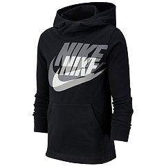 79ff57807cce Boys 8-20 Nike Logo Pullover Hoodie. Dark Gray Heather Black