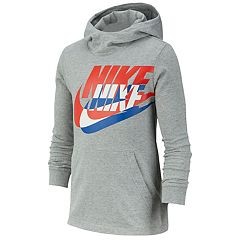 b7af28ab1fbed2 Boys 8-20 Nike Logo Pullover Hoodie. Dark Gray Heather Black. sale