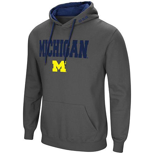 Men's Michigan Wolverines Pullover Fleece Hoodie