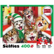Ceaco Cat Selfies 400-piece Christmas Puzzle