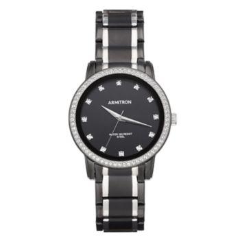 Armitron Men's Crystal Two Tone Dress Watch - 20/5328BKTB