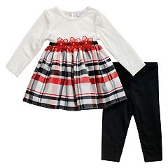 Baby Girl Youngland Plaid Dress & Leggings Set