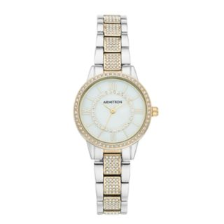 Armitron Women's Crystal Accent Two Tone Watch - 75/5612MPTT