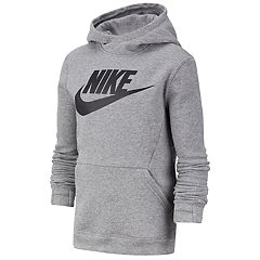 15524b39f68e Boys 8-20 Nike Pullover Fleece Hoodie. Dark Gray Black Obsidian White ...