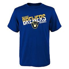 Boys 4-18 Milwaukee Brewers Meshed Up Tee