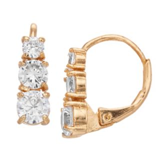 Dana Buchman Cubic Zirconia Huggie Hoop Earrings