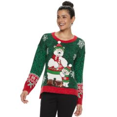Womens Green Christmas Sweaters Tops Clothing Kohls