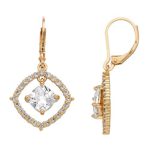 Dana Buchman Simulated Crystal Drop Earrings