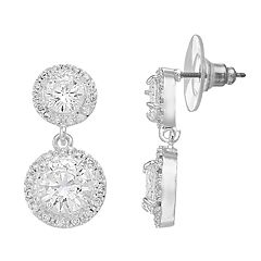 Dana Buchman Double-Drop Cubic Zirconia Earrings