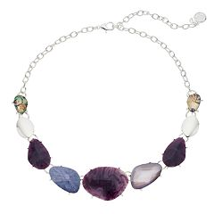 Dana Buchman Purple Statement Necklace