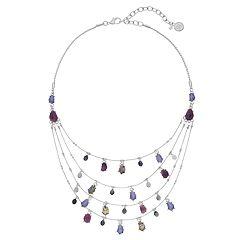 Dana Buchman Purple Multi Strand Statement Necklace