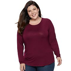Plus Size Apt. 9® Essential Long Sleeve Top