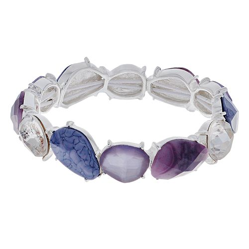Dana Buchman Purple Stretch Bracelet