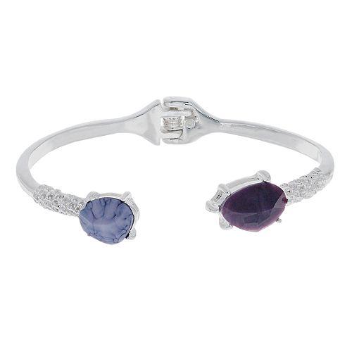 Dana Buchman Purple Hinge Cuff Bracelet