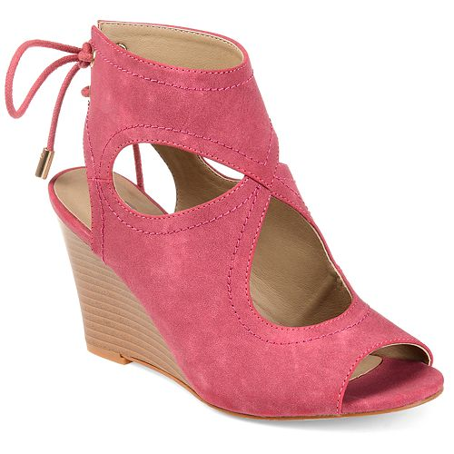 Journee Collection Women's Camia Wedge Sandals