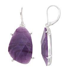 Dana Buchman Purple Drop Earrings